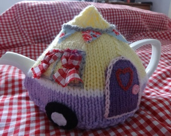 2 Cup Tea Cosy Knitting Pattern : Andreas Crafty Den by AndreasCraftyDen on Etsy