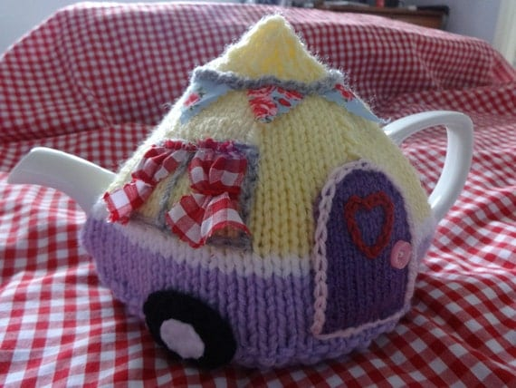 Caravan Knitting Pattern : Caravan tea cosy cozy knitting pattern pdf camping retro