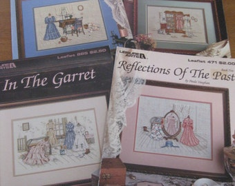 Paula Vaughan - Collection of 7 Leaflets/Counted Cross Stitch Designs - Leisure Arts