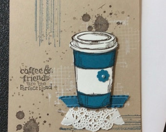 Friendship, Coffee, Cup, Handmade, stampin up, card