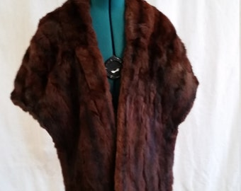 vintage mink stole from Macy's new york