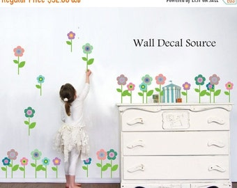 LAST CHANCE SALE - Flower Decals - Flower Decal - Patterned Flower Wall Decal - Vinyl Floral Decals