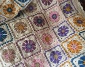 Crochet Floral Blanket