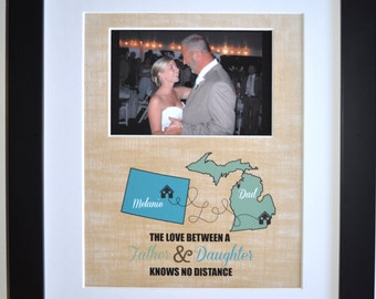 Father daughter dance gift, wedding keepsake, personalized father of the bride gift, wedding dance, fathers day, frame option, thank you dad