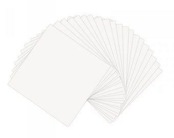 Sizzix - Paper Leather Sheets - 6in x 6in White - 20 Pack
