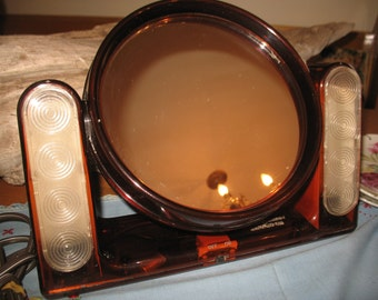 Mirror for make-up with lights.