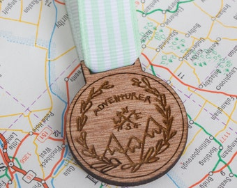 Adventurer Medals for Modern Achievement ~ pin badge for explorers, scouts, girl guides travellers, mountain climbers and tree house makers