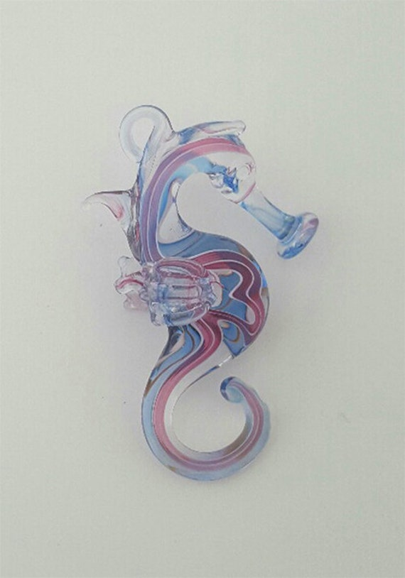 Pink and Blue Stripe Seahorse