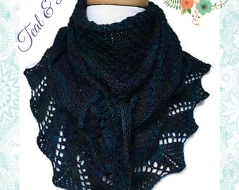 Shoulder Shawl Ladies Teal Purple Navy Merino Wool Blend Neckwarmer Scarf
