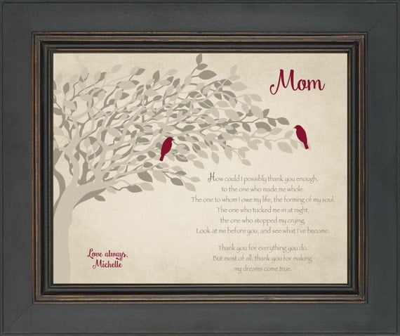 Gift for Mom from Daughter- Wedding Day Gift for Mother - 8x10 Print ...