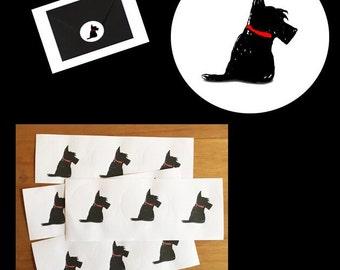 Scottie Dog stickers / envelope seals