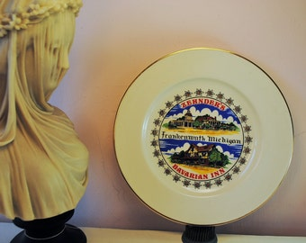 MICHIGAN Bavarian vintage State Plate FRANKENMUTH ZEHNDERS road trip souvenir collectible home decor vintage kitch gift christmas love