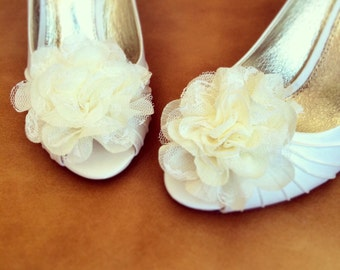 Wedding Shoe Clip - Flower shoe clip - Set of 2 - BEST SELLER
