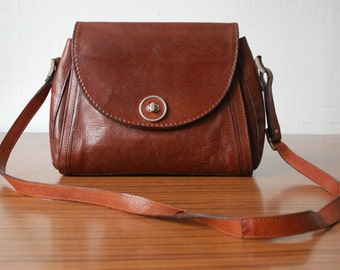 Vintage Brown Leather Satchel