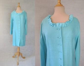 Aqua Coat Dress - 1960s