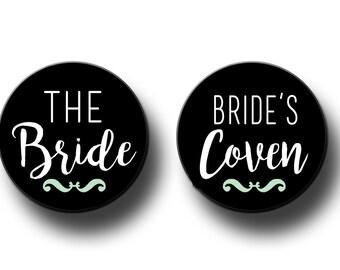 Bride's Coven  Bachelorette Party Favors  Bridal Shower Party Favors 2.25 inch Pinback Buttons, pins, Badges