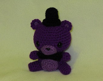 Chibi Shadow Freddy amigurumi plush (purple)