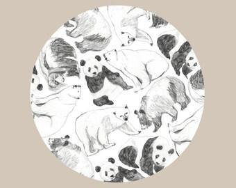 Bear Pattern Print