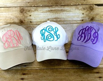 Monogram Baseball Cap - Monogrammed Hat - Tons of Color Options!