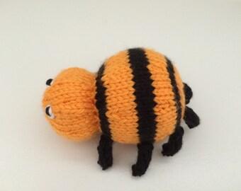 Stuffed Animal - Spider - Knitted Spider - Soft Toy - Kids Toy - Hallowe'en