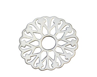 925 Sterling Silver Flower Filigree Findings DIY Crafts New Design Earring Components Metal Charms Supplies ID 34872