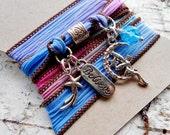 Fairy Silk Wrap Bracelet, Believe Wrap Bracelet, Boho Bracelet, Yoga Bracelet, Silk Wrap Bracelet, Faerie Bracelet