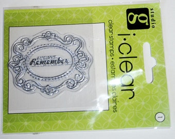 Always Remember Frame Clear Mount Rubber Stamp From Studio G