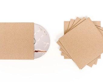 10 Cd Sleeves| Wedding Cd| Wedding Favor| Cd Case| Cd Sleeves| Cd| Kraft Cd Sleeves| Kraft Paper| Kraft Cd Sleeve| Cd Cover| Kraft Sleeve
