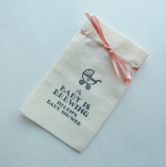 baby shower favor bags 5x3 fine quality cotton muslin vintage