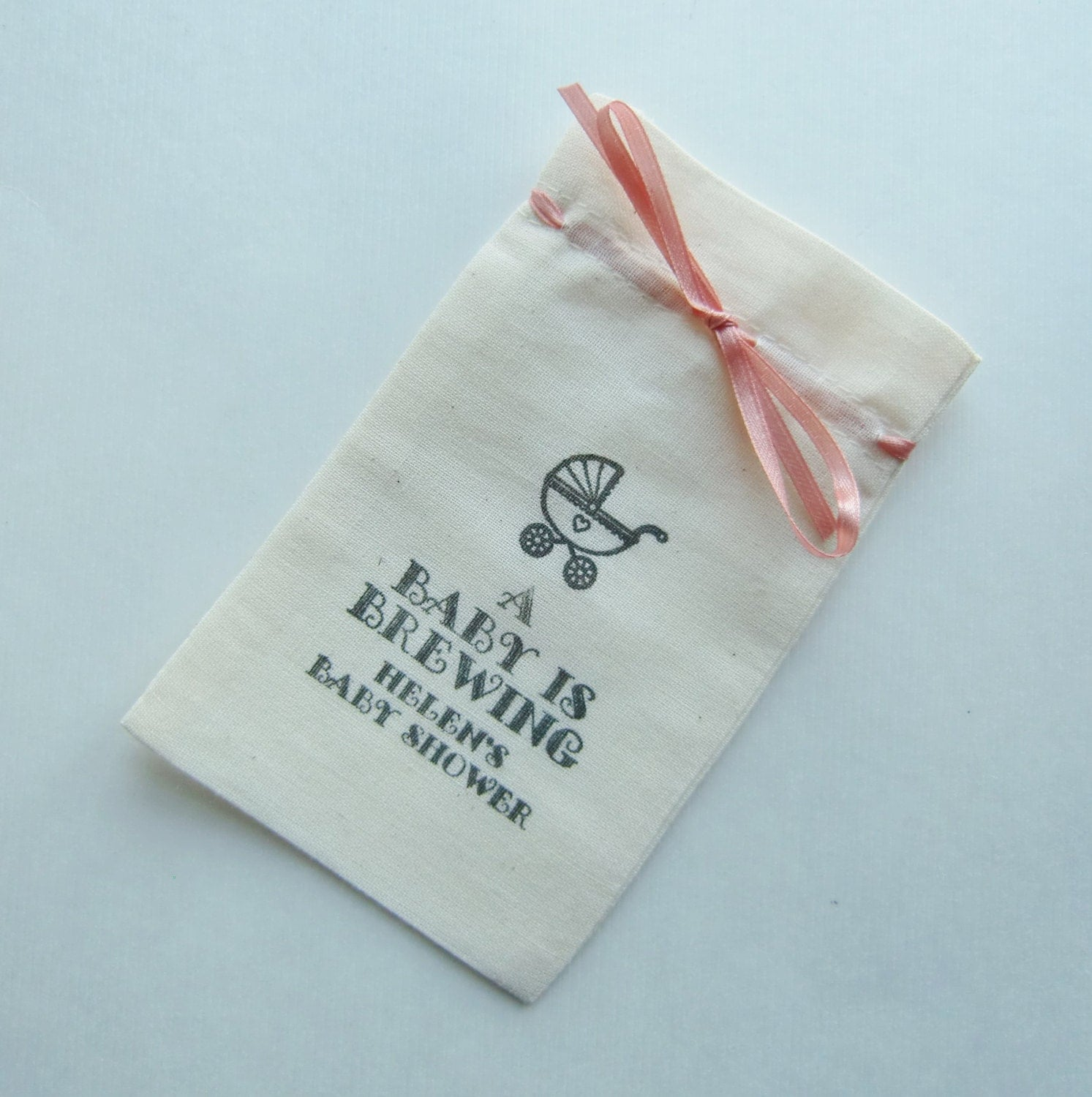 baby shower favor bags 5x3 fine quality cotton