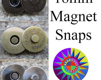 18mm Magnet Snaps for handbags and purses - set of two