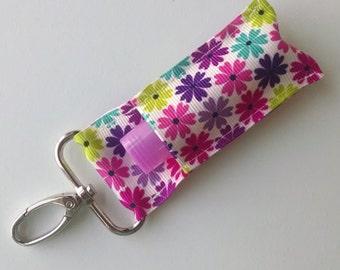 Lip Balm Holder - Chap Stick Holder - USB Holder - Floral Lip Balm Holder - Petite Flowers