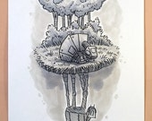 "Original, signed ""Wookiee the Chew"" drawing - ""Dream Big, At-Ore"" by James Hance"