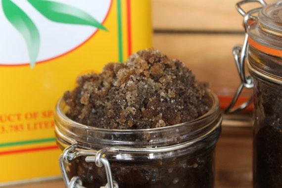 All Natural & Organic  Brown Sugar  Coffee Scrub Brazilian Sugar Cane scent 9 oz