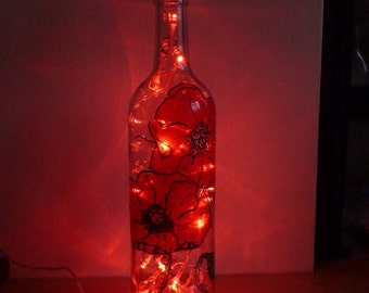 Hand painted bottle light