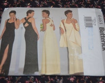 Butterick 6463 Misses Dress and Stole Sewing Pattern - UNCUT Size 12 14 16