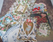 Vintage Valentines day cards 5 pieces lot F