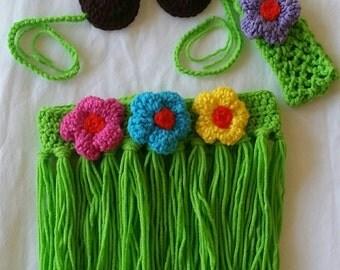 Crochet Hula Skirt Costume Photo Prop