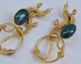 PARTICOLARI Rare Earrings Clip on Earrings Made in Italy 1980s
