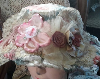 Lady tea hats with adjustable straps