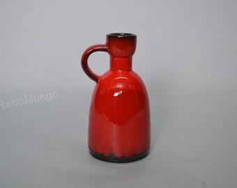Red glazed ceramic pottery vase by Jopeko 903 18