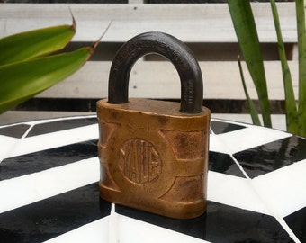Antique Yale Lock Yale and Towne Padlock Brass Lock