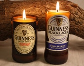 Beer Bottle Candle from Upcycled Guinness Beer Bottles, High Scented,  Custom Made Candle, One Bottle Candle