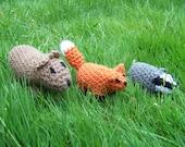 Animals Only Mitten Set The Mitten by Jan Brett crocheted stuffed animals