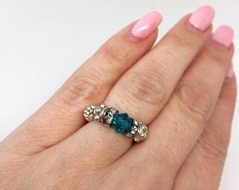 Stretch Ring with Swarovski Crystal
