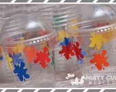 Art Birthday Party, Set of 8 or 12 You Choose Party Cups, Favor Cups, Snack Cups or Reusable Souvenir Cup