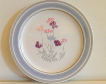 Newcor Michelle Salad Plate, Vintage Newcor Salad Plate, Newcor 1987 Stoneware Plate