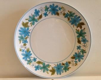 "Mikasa Cera-Stone Maggi Large Plate, Vintage Mikasa Maggi Serving Plate, Mikasa Blue Flowers, Mikasa Pattern 3149-B, Mikasa Maggi 12.25"""