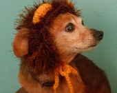 Crocheted Lion Hat for Cat or Dog, Lion Mane Hat for Pet, Lion Halloween Costume