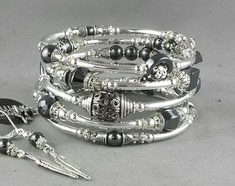 5-hématite bracelet serpentin